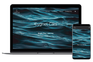 Creative Direction.one web development service cygnetcars.com mobile desktop view
