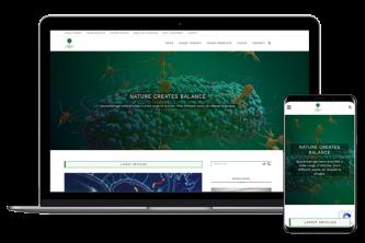 Creative Direction.one web development service bacteriophage.news mobile desktop view